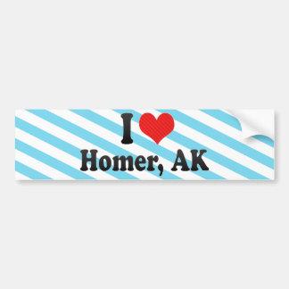 I Love Homer AK Bumper Stickers