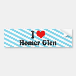 I Love Homer Glen United States Bumper Sticker