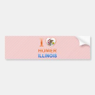 I Love Homer IL Bumper Stickers