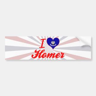 I Love Homer Louisiana Bumper Stickers
