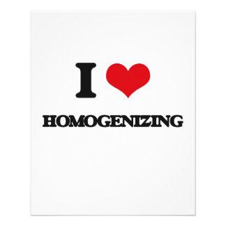 I love Homogenising 11.5 Cm X 14 Cm Flyer