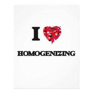 I Love Homogenizing 21.5 Cm X 28 Cm Flyer
