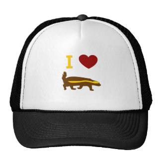 I Love Honey Badger Cap