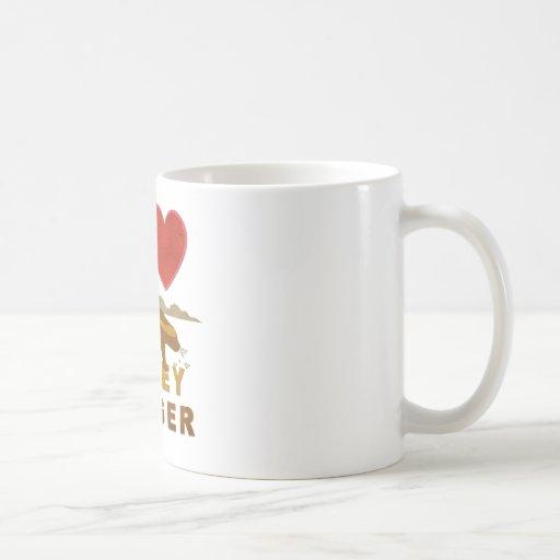 I LOVE HONEY BADGER CLASSIC WHITE COFFEE MUG