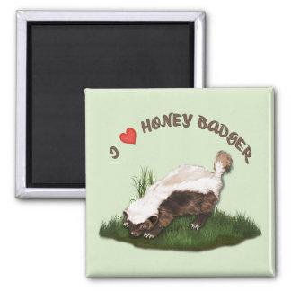 I Love Honey Badger Refrigerator Magnets