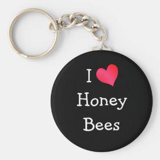 I Love Honey Bees Key Ring
