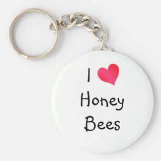 I Love Honey Bees Key Ring