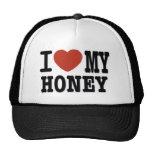I LOVE HONEY TRUCKER HAT
