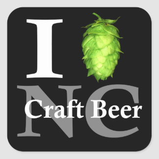 I love hop NC craft beer Square Stickers
