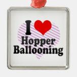 I love Hopper Ballooning Christmas Ornament