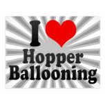 I love Hopper Ballooning Postcard