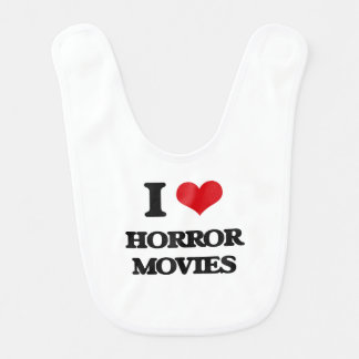I love Horror Movies Bib