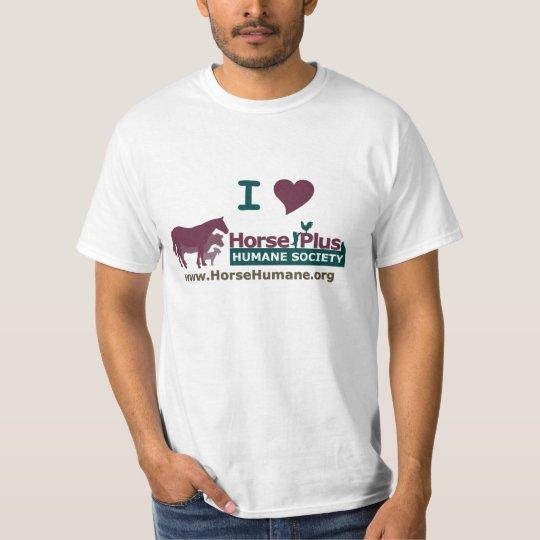 I Love Horse Plus Humane Society - Mens T-Shirt