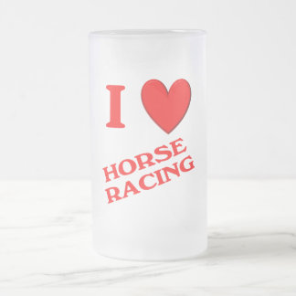 I Love Horse Racing Coffee Mugs