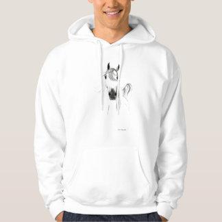 I Love Horses Arabian Hooded Sweatshirt