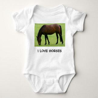 I LOVE HORSES BABY BODYSUIT