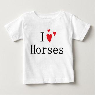 I Love Horses Baby T-Shirt