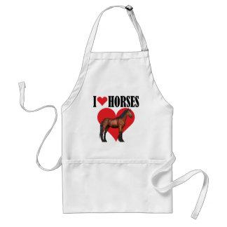 I Love Horses ~ Bay Standard Apron