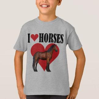 I Love Horses ~ Bay T-Shirt