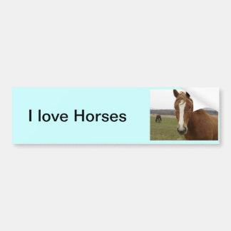 I love Horses Bumper Sticker