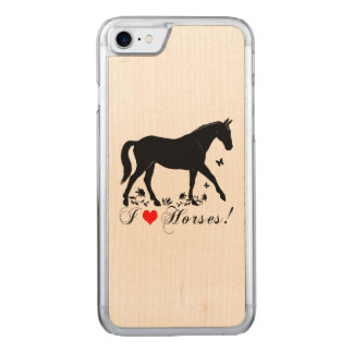 I Love Horses! Carved iPhone 7 Case