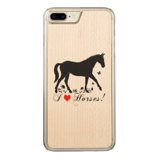 I Love Horses! Carved iPhone 7 Plus Case