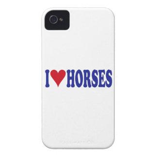 I Love Horses iPhone 4 Case