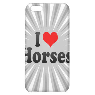 I love Horses Case For iPhone 5C