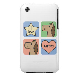 I Love Horses Case-Mate iPhone 3 Cases