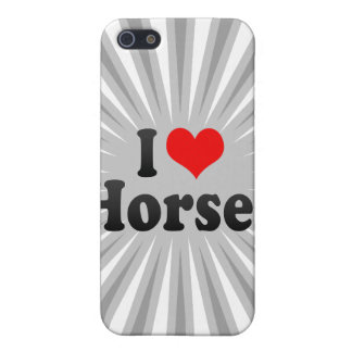 I love Horses Cover For iPhone 5