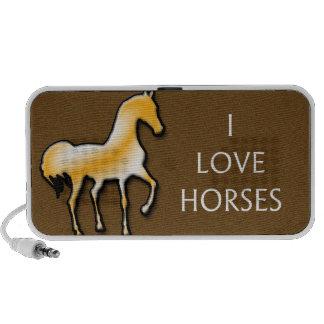 I LOVE HORSES DOODLE SPEAKER