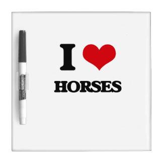 I love Horses Dry-Erase Board