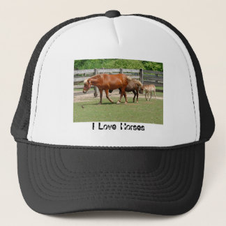 I Love Horses Hat
