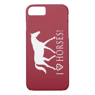 I Love Horses Horseshoe and Dressage iPhone 7 Case