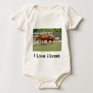 I Love Horses Infant's Creeper