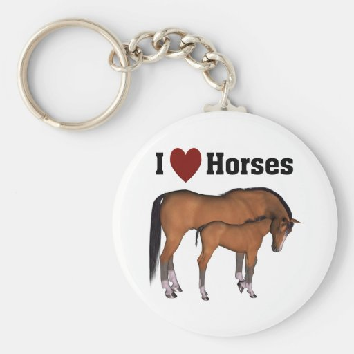 I Love Horses Keyring Key Chain