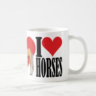I Love Horses ~ Palomino Basic White Mug