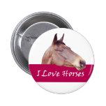 I Love Horses Pin
