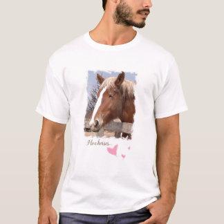 I Love Horses Pink Hearts  T-Shirt