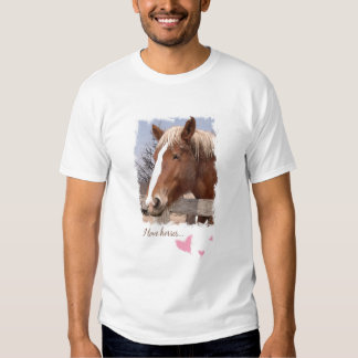 I Love Horses Pink Hearts  Tees