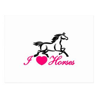 I Love Horses Postcard