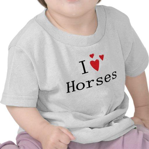 I Love Horses Tshirt