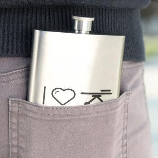I Love Hospital Stretcher Hip Flask