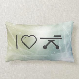 I Love Hospital Stretcher Throw Cushions