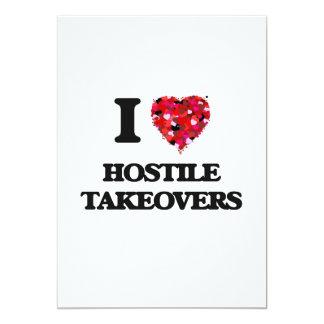 I Love Hostile Takeovers 13 Cm X 18 Cm Invitation Card