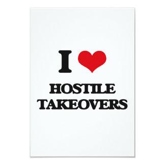 I love Hostile Takeovers Personalized Invite