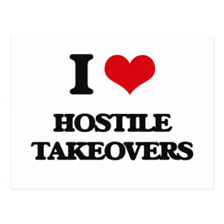 I love Hostile Takeovers Post Cards