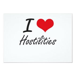 I love Hostilities 13 Cm X 18 Cm Invitation Card