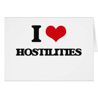 I love Hostilities Greeting Card