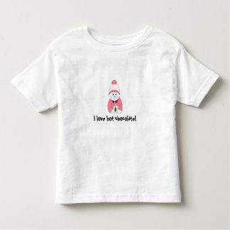 I love hot chocolate! - toddler t-shirt